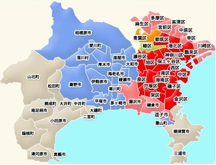 横浜全域メンズエステ出張地図