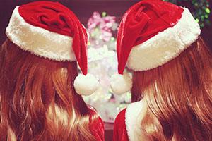 サンタ衣装の女の子たち