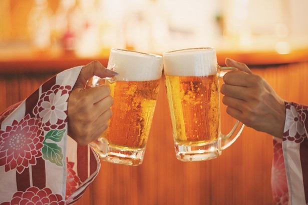 ビールを乾杯!