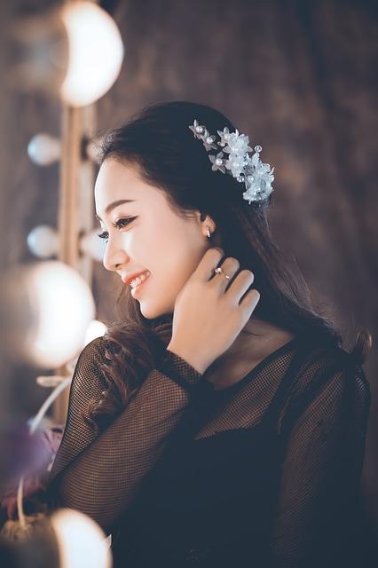 アジア系の美しい女性