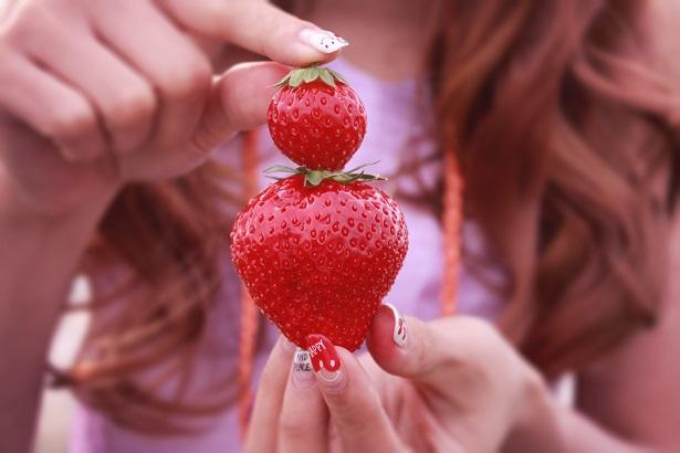 イチゴの大小
