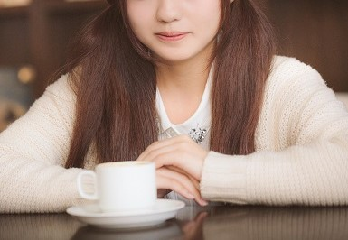 カフェで出会った女の子