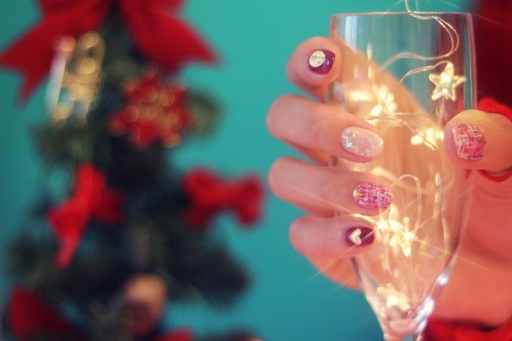 クリスマスに女の子と乾杯
